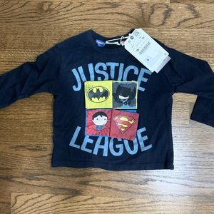 Zara justice league shirt new with tags